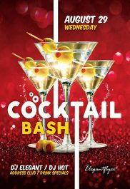 Cocktail Bash – Flyer PSD Template + Facebook Cover