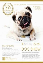 Dog Show – Flyer PSD Template + Facebook Cover