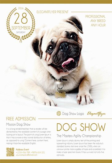 dog show  u2013 flyer psd template  u2013 by elegantflyer