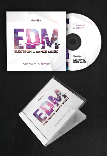 edm  u2013 free cd cover psd template  u2013 by elegantflyer