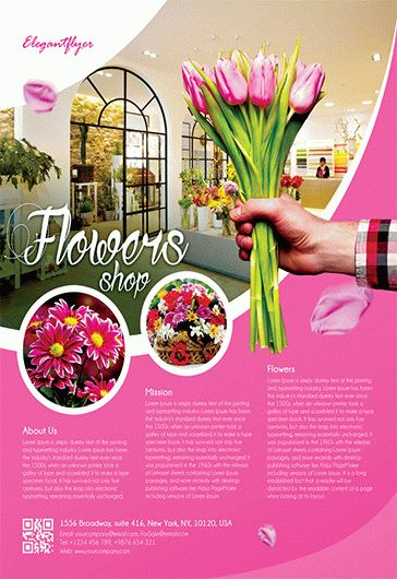 flowers shop  u2013 flyer psd template  u2013 by elegantflyer