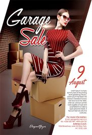 Garage Sale – Flyer PSD Template + Facebook Cover