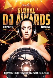 Global DJ Awards – Flyer PSD Template + Facebook Cover