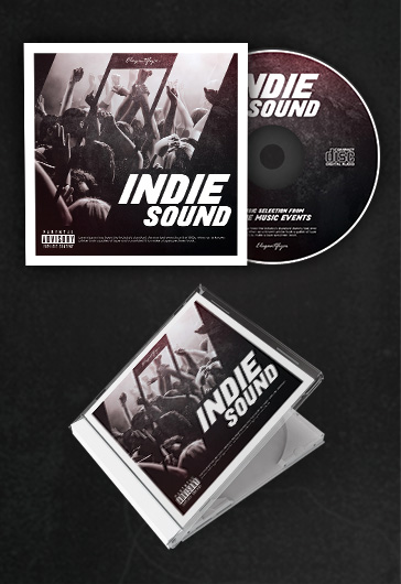 indie sound  u2013 free cd cover psd template  u2013 by elegantflyer
