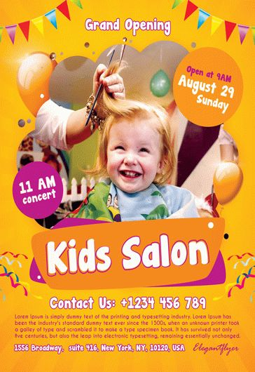 kids salon  u2013 flyer psd template  u2013 by elegantflyer
