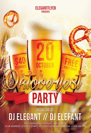 Oktoberfest Party – Flyer PSD Template