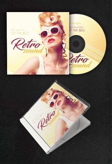 Retro – Free CD Cover PSD Template