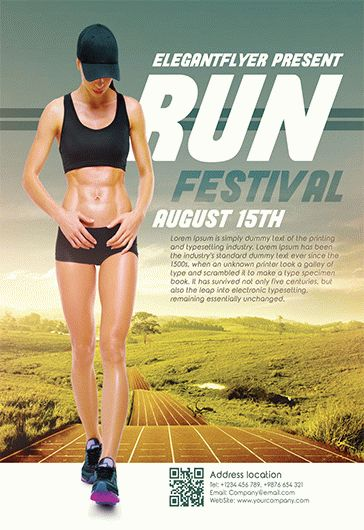 Run Festival – Free Flyer PSD Template