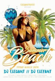 Summer Beach – Flyer PSD Template + Facebook Cover