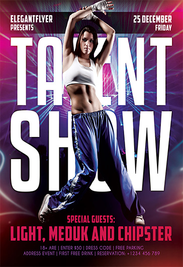 Talent Show – Free Flyer Psd Template + Facebook Cover – By