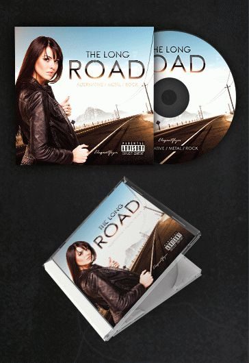 The Long Road – Free CD Cover PSD Template