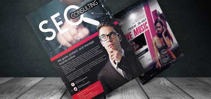 5 Free Photoshop PSD Flyer/Poster Mockups