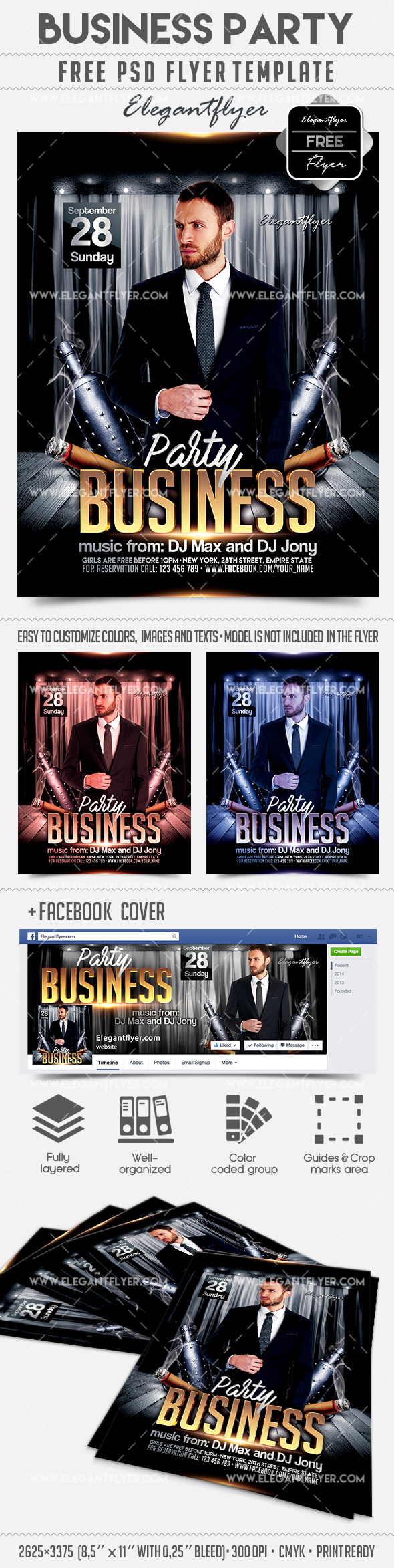 Business Party – Free Flyer PSD Template
