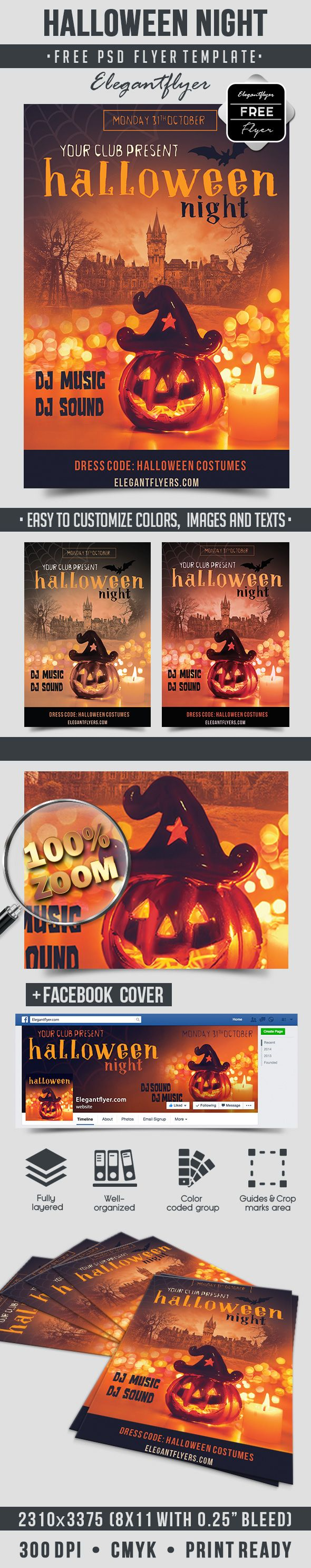 Halloween Night – Free Flyer PSD Template