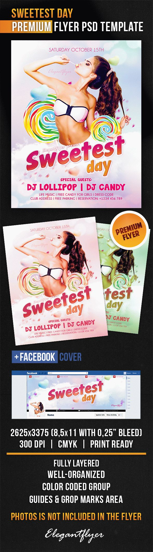 Sweetest Day – Flyer PSD Template