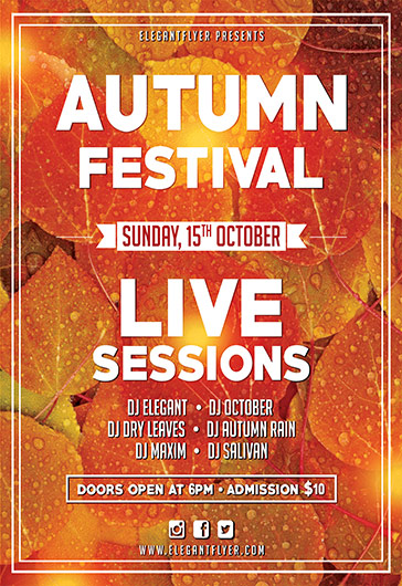 Autumn Festival – Flyer PSD Template