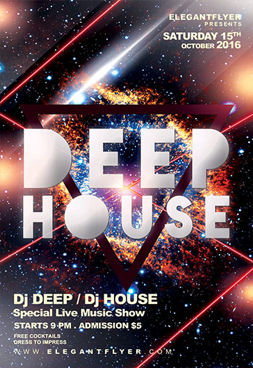 Deep House Mix PSD Template