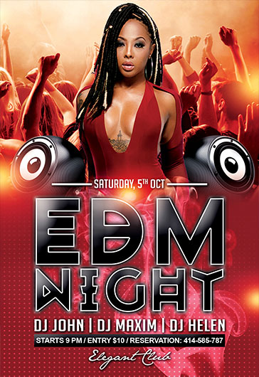 Flyer EDM Night Party Music