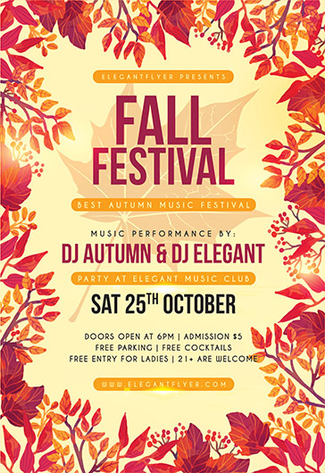 Fall Festival – Flyer Psd Template + Facebook Cover – By Elegantflyer