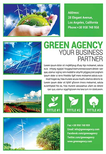 Green Agency – Flyer PSD Template