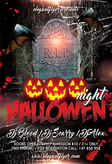 Halloween – Premium Flyer PSD Template