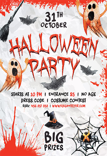 Template for Halloween Party Invite