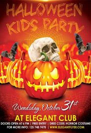 Kids Halloween Party – Flyer PSD Template + Facebook Cover