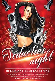 Seductive Night – Flyer PSD Template + Facebook Cover