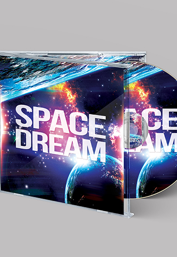 Space Dream – Free CD Cover PSD Template