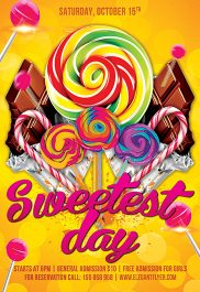 Sweetest Day – Flyer PSD Template + Facebook Cover