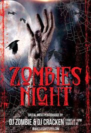 Zombie Night – Flyer PSD Template + Facebook Cover