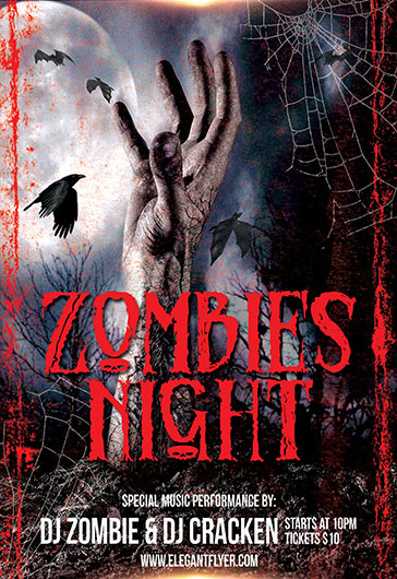 Zombie Night – Flyer PSD Template