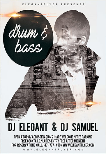 Drum & Bass – Flyer PSD Template