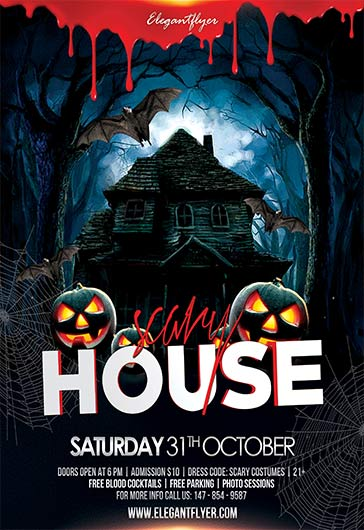 Scary House – Flyer PSD Template