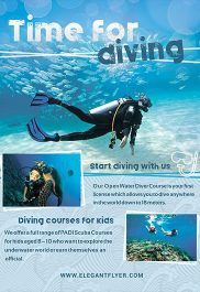 Diving Time – Premium Flyer PSD Template + Facebook Cover