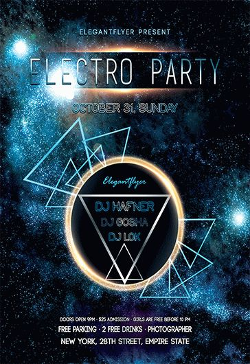 Free Electro Flyer Templates  By Elegantflyer
