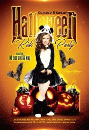 Halloween Kids Party – Flyer PSD Template + Facebook Cover