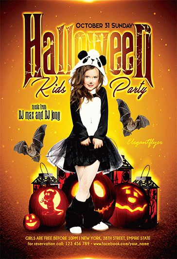 Halloween Party – Free Flyer Psd Template – By Elegantflyer