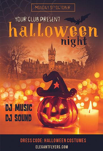 Free Halloween Flyer Templates In PSD By ElegantFlyer - Free halloween flyer templates