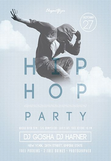 Hip-Hop Party – Free Flyer PSD Template