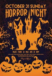 Horror Night – Flyer PSD Template + Facebook Cover
