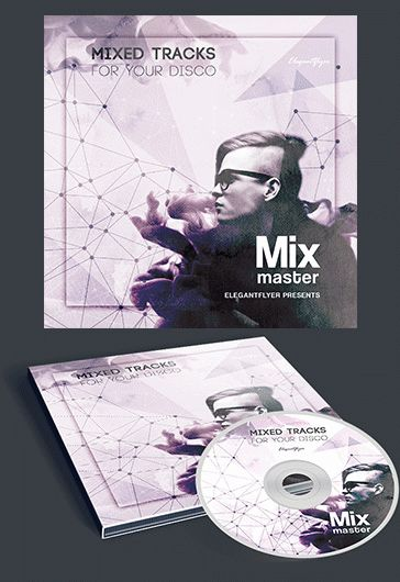 Mix Master – Premium CD&DVD cover PSD Template