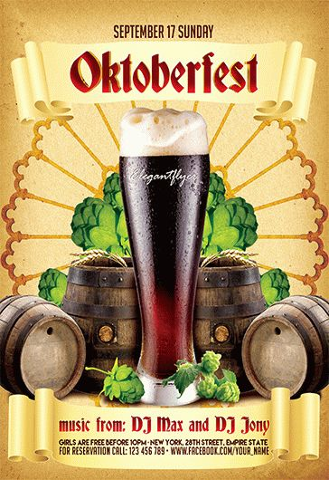 oktoberfest v02  u2013 flyer psd template  u2013 by elegantflyer