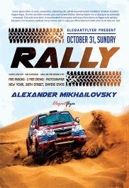 Rally – Flyer PSD Template + Facebook Cover