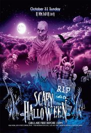 Scary Halloween – Flyer PSD Template + Facebook Cover