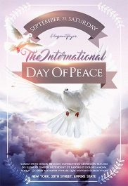 The International Day Of Peace – Flyer PSD Template + Facebook Cover