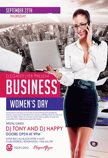 Business Women's Day – Flyer PSD Template