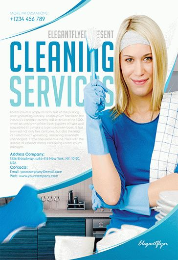 Cleaning Services – Flyer PSD Template