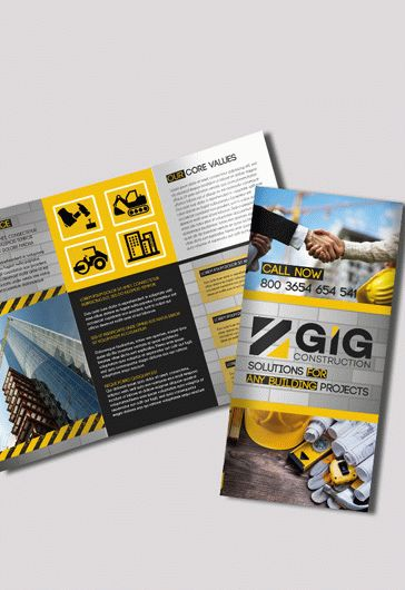 Construction Tri-Fold PSD Brochure
