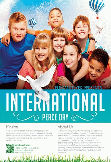 International Peace Day – Free Flyer PSD Template